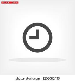 Vector icon clock 10 EPS