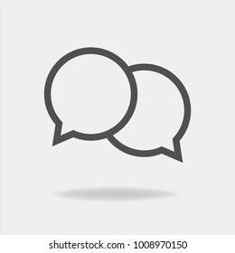 Vector icon cloud conversation. Cloud of speech on a gray background