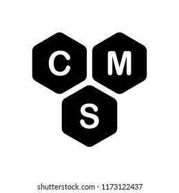 Vector icon for cms content