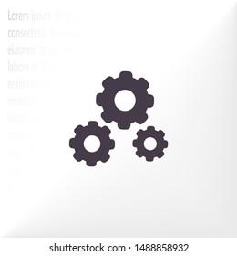 vector icon cogwheel . Lorem Ipsum Illustration design