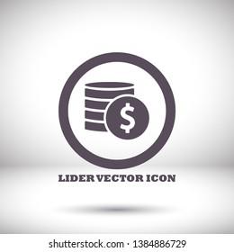 vector icon coin. lorem ipsum Flat Design JPG
