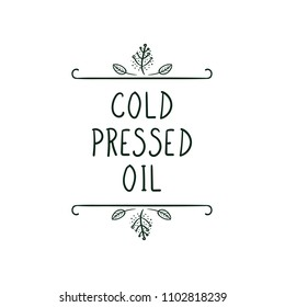 Vector Icon: Cold Pressed Oil.