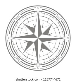 vector icon with compass rose for your design