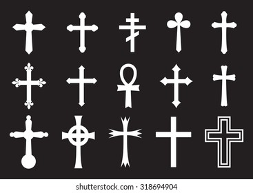 Vector icon cross set