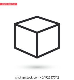 Vector icon cube 10 EPS . Lorem Ipsum Illustration design