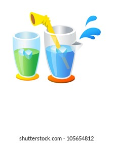 Vector icon cup and ice