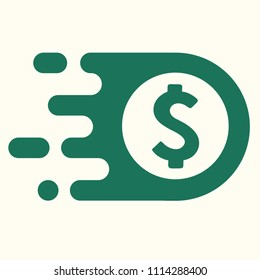 Vector icon currency sign US dollar. American dollar sign logo in flat minimalism style.