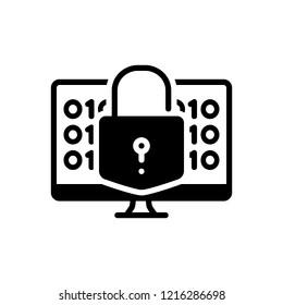 Vector icon for decrypt. security.