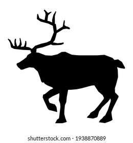 Vector Icon deer sign. Image deer symbol sticker. Illustration animal wild nature deer sign in flat style. Image deer silhouette sign