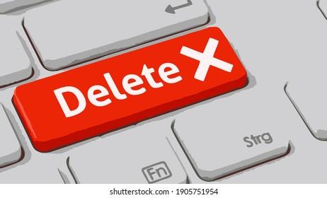Vector icon of the delete button