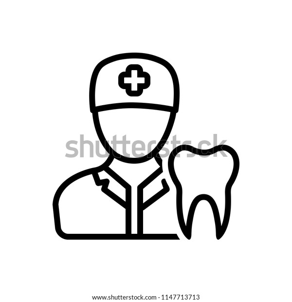 Vector icon for dentist