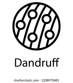 Vector icon design of dandruff