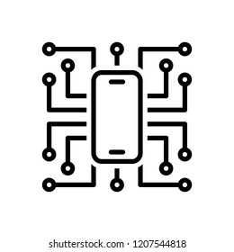 Vector icon for digitalisation