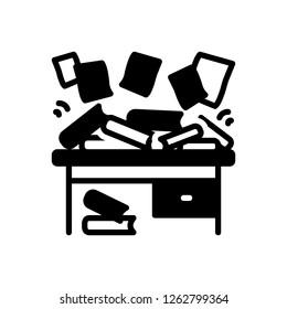 Vector icon for disorganize