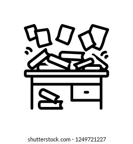 Vector icon for disorganized