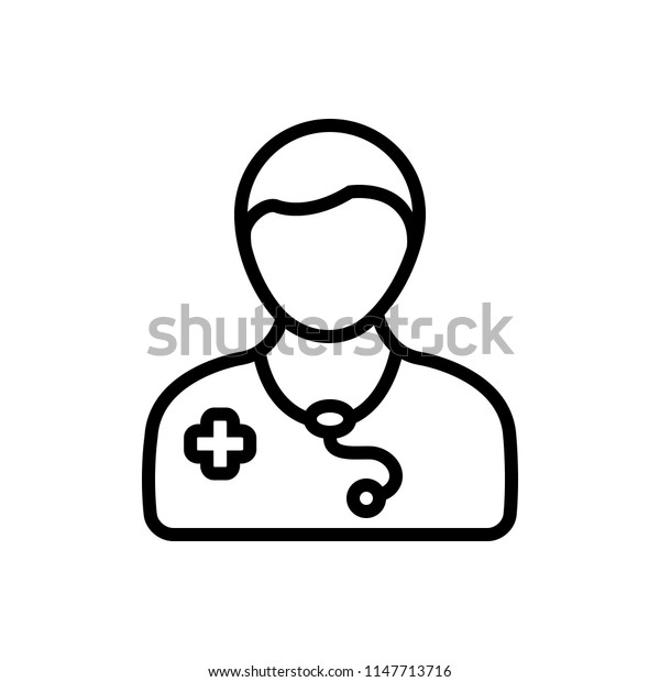 Vector icon for doctor