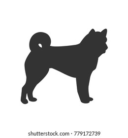 Vector Icon of Dog Isolated on White Background. Vector Illustration.
