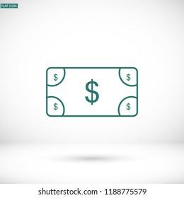 Vector icon  dollar  10 EPS