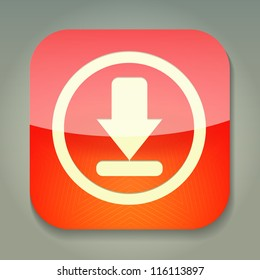 a vector icon with download sign inside