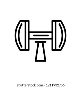 Vector icon for Dumb Bells