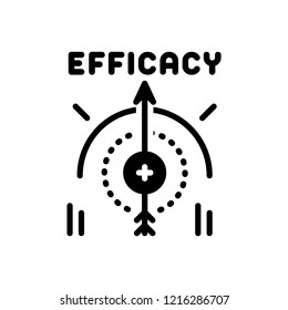 Vector icon for efficacy