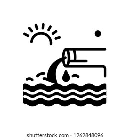 Vector icon for effluent
