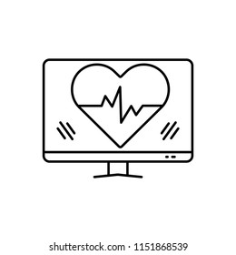 Vector icon for ehealth