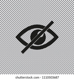 vector icon eye prohibited on a transparent background