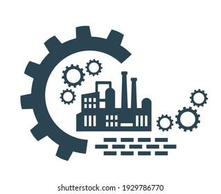 Vector icon, factory logo, factory logo. Industrial facility. - Shutterstock ID 1929786770