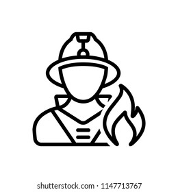 Vector icon for fireman