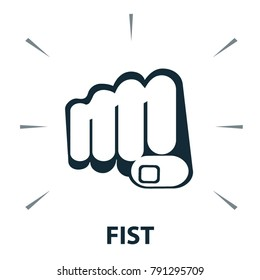 Vector icon - fist hand sign