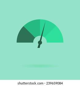 Vector icon flat design speedometer