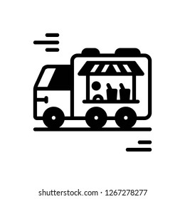 Vector icon for food truck