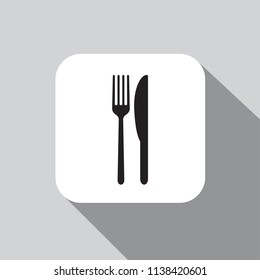 Vector icon fork with a knife