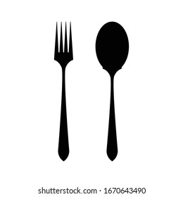 Vector icon of fork and spoon.