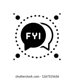 Vector icon for fyi