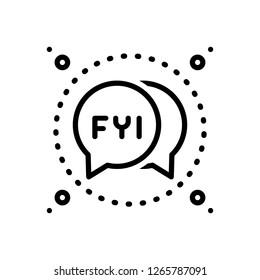 Vector icon for fyi bubble