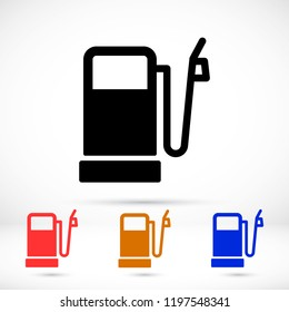 Vector icon gas station 10 EPS