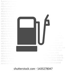 Vector icon gas station 10 EPS . Lorem Ipsum Illustration design