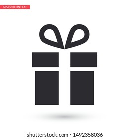 Vector icon gift 10 EPS . Lorem Ipsum Illustration design