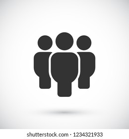 Vector icon a group of people 10 EPS