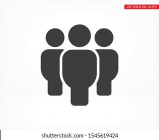 Vector icon a group of people 10 EPS . Lorem Ipsum Illustration design