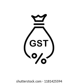 Vector icon for gst