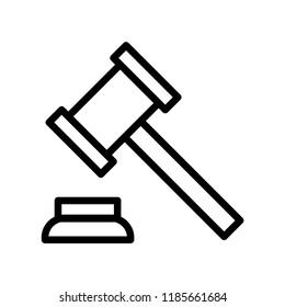 Vector icon hammer court 10 EPS