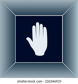 Vector icon hand stop web icon.