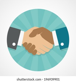 Vector icon handshake
