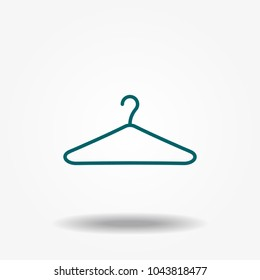 Vector icon hanger for clothes