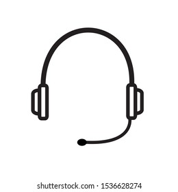 Vector icon of a headset. A tool for listening to sounds near the ear