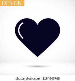 Vector icon heart 10 EPS