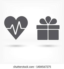Vector icon heart 10 EPS Illustration design